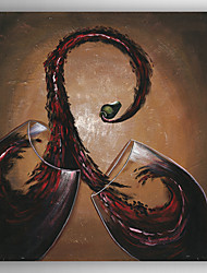 Oil Painting Modern Wine Cup  Hand Painted Canvas with Stretched Framed