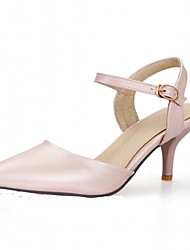 Women's Shoes Leatherette Stiletto Heel Heels Heels Office & Career / Party & Evening / Casual Blue / Pink / Beige