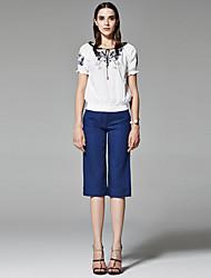 ZigZag® Femme Col Arrondi Manche Courtes T-shirt Blanc - 11267