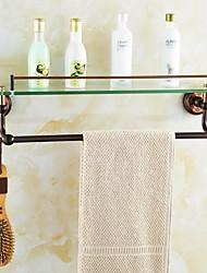 Prateleira de Banheiro / Cesto para Box de Banheiro / Gadget de Banheiro Dourada De Parede 55.5*14.6*15.5cm(21.85*5.75*6.1 inch) Latão
