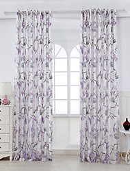 Two Panels Country Floral / Botanical As Per Picture Living Room Rayon Panel Curtains Drapes