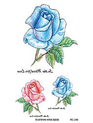harajuku nuevas rosas de colores hechos a la medida a prueba de agua y rc2246 tatuajes fresco