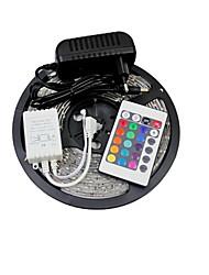 z®zdm 5m 150x5050 SMD RGB luce di striscia principale e il telecomando 24key e AC110-240V
