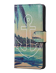Anchor and Sea Magnetic PU Leather wallet Flip Stand Case cover for Huawei Ascend P9