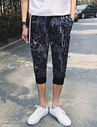 Men's Sweatpants,Casual / Sport Print Cotton