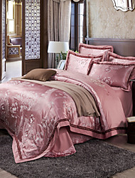 Western style Queen King Size Bedding Set Luxury Silk Cotton Blend Duvet Cover Sets