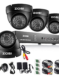zosi® 8-kanaals HDMI-960H dvr 4 stuks 1000tvl outdoor dag security nacht cctv camera bewakingssysteem