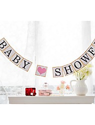 Pretty Cute Baby Shower Bunting Garlands Party Banner Table Decorations with String