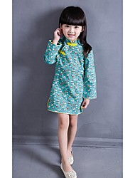 Kid Princess Series Costumes Long Sleeve Cute and Cuddly Costumes Dress Cheongsam