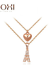 ROXI Golden Heart Pendant  Layered Necklace Jewelry