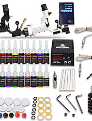 starter tattoo kits 2 rotary machine liner & shader LCD power supply 5 x tattoo needle RL 5 Complete Kit