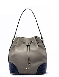 NAWO Women Cowhide Shoulder Bag Khaki-N153051