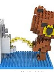 loz ursos marrons blocos de diamante WC LOZ bloquear brinquedos DIY brinquedos (350 pcs)