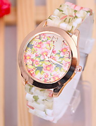 Women's Fashionable Country Style Pattern Silicone Watch Cool Watches Unique Watches