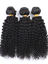 "10""-26"" Natural Black 6A Brazilian Curly Hair Weave 4Pcs/Lot 100% Unprocessed Peruvian Virgin Kinky Curly Hair"