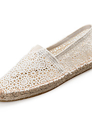 Women's Spring / Summer / Fall / Winter Comfort Lace Casual Flat Heel Slip-on Black / White
