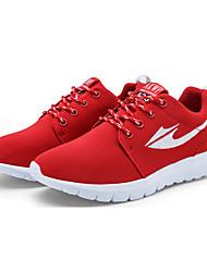 Черный / Синий / Красный / Серый-Женская обувь-Для занятий спортом-Тюль-На плоской подошве-Удобная обувь-Обувь на плоской подошве