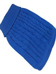 Perros Suéteres Verde / Azul / Rosado Ropa para Perro Invierno Un Color