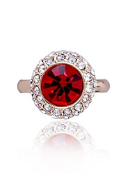 Women's Ring Silver Plated Luxury Crystal Rings Fashion Jewelry for Women