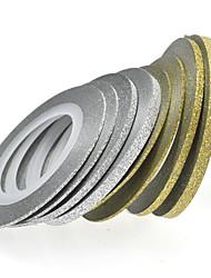 1pcs 20m 2 milímetros arte do prego de ouro / prata do brilho da listra tape Nail Art Decoração nc275