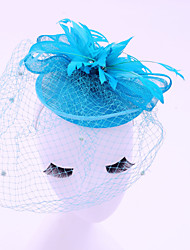 Coiffure Casque Mariage / Occasion spéciale / Casual / Outdoor Plume / Lin / Net Femme Mariage / Occasion spéciale / Casual / Outdoor1