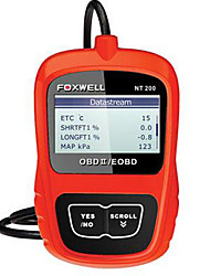 FOXWELL NT200 OBD OBDI OBDII Multi-system Multi-languages Diagnostic Scanner for Cars After 1996 Life-long Free Update