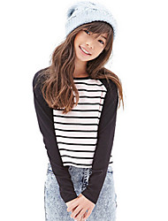 Girl's Black Tee Cotton Spring