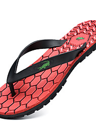 Men's Shoes Outdoor / Casual Synthetic Flip-Flops Black / Red / Gray