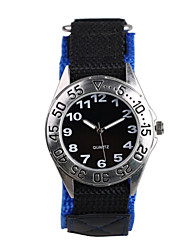 Men's Fashion Watch Quartz Water Resistant / Water Proof Fabric Band Casual Blue