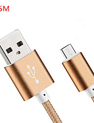 USB 2.0 Normal Cable Para Huawei Sony Nokia HTC Motorola LG Lenovo Xiaomi 150 cm Nailon
