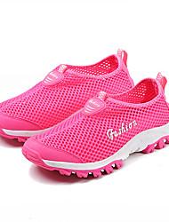 Women's Shoes Tulle Flat Heel Comfort Flats Athletic Black / Blue / Pink / Gray / Fuchsia