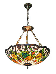 21inch Retro Tiffany Pendant Lights Glass Shade Living Room Dining Room light Fixture