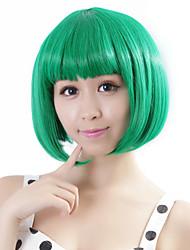 """neitsi 100% Kanekalon волоконно 14 """"(35 см) косплей короткий синтетический волос Боб 160г / шт женской девушки парики зеленый"""