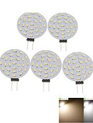 3W G4 Точечное LED освещение MR11 36 SMD 3014 300-380 lm Тёплый белый / Холодный белый Декоративная DC 12 / AC 12 V 5 шт.
