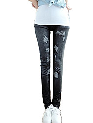Hight Quality Women's Skinny Fashion Leggings Women  Imitation of the Jeans Beggar ripped Pants Casual Pants