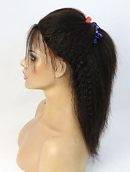 yaki italien droite cheveux crépus avant dentelle droite perruque / full lace wig
