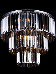 3 Layers Crystal Lighting Flush Mount Modern Lamp 6 Lights