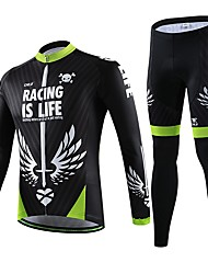 Cycling Jersey with Tights Women's / Men's / Unisex Short Sleeve BikeBreathable / Quick Dry / Wearable / Compression / 3D Pad / Back