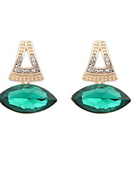 Super Retro Statement Mix Colors Simulated Gem Pierced Stud Earrings Women Jewelry
