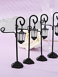 Bridesmaids / Bachelorette Wedding décor Streetlight Table Place card holders 1Piece/Set / Rustic / Black / Floral