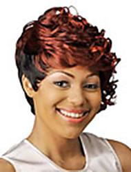novas elegantes encaracolado mix-clolor curto perucas de cabelo sintético