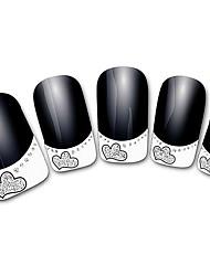абстрактный черный xf821 французский 3d наклейки для ногтей