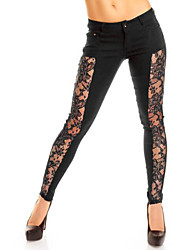 Pantaloni Da donna Skinny Sexy Poliestere Media elasticità