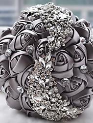 Crystal Brooch Bouquet Floral Bridal Handholding Flower