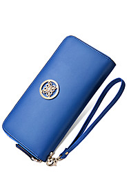NAWO Women Cowhide Wallet Blue-N353171