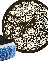 1pcs prego modelo de placa art stamping polishtransfer e um prego selo quadrado jqn17 ferramenta de arte