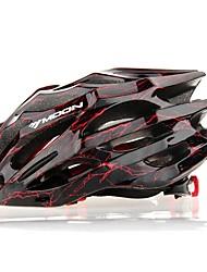 ЛУНА Велоспорт Черное и красное PC / EPS 27 Вентс Свет Велоспорт Шлем