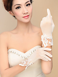 Wrist Length Fingertips Glove Spandex Bridal Gloves / Party/ Evening Gloves Spring / Fall / Winter Sequins