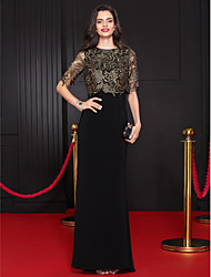 TS Couture Formal Evening Dress - Elegant Trumpet / Mermaid Scoop Floor-length Lace Jersey with Lace