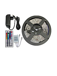 5050 150 SMD RGB and 44Key Remote Controller and 3A EU Power Supply (AC110-240V) LED Strips Light